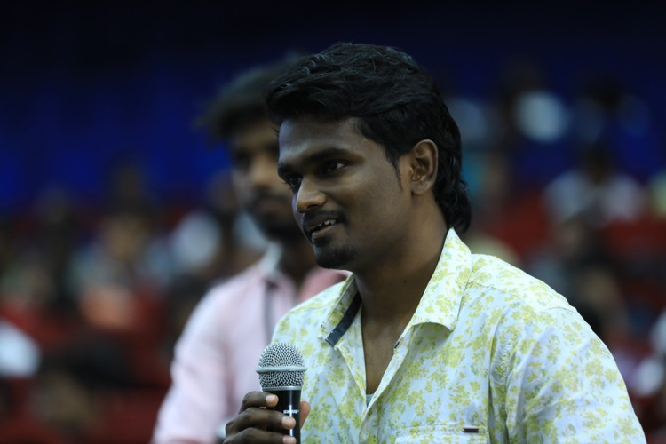 Vikranth asking questions to chezhiyan - Casttree event 2018